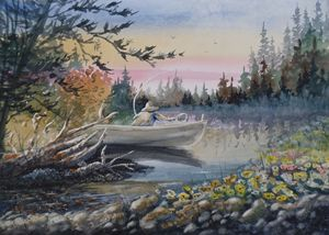 Fishing - David K. Myers Watercolor/ Photo Gallery