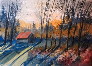 Old Flower Shed, Watercolor