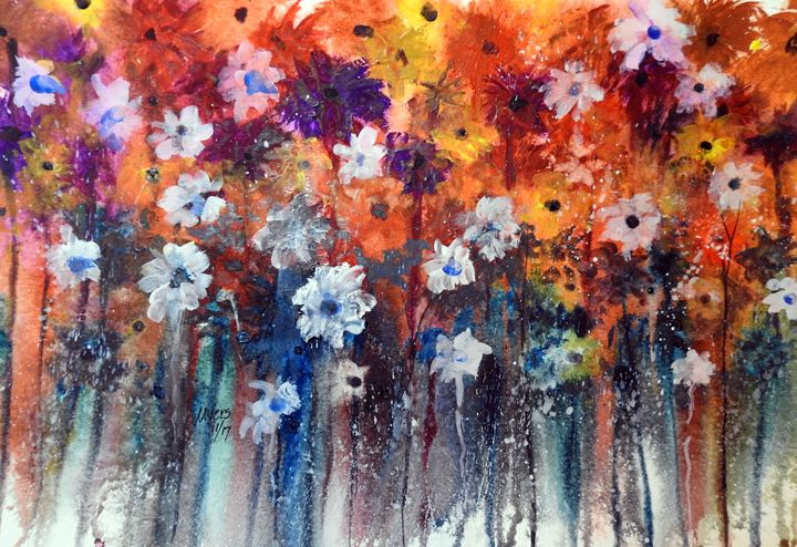 Spring Flowers, Watercolor - David K. Myers Watercolor/ Photo Gallery