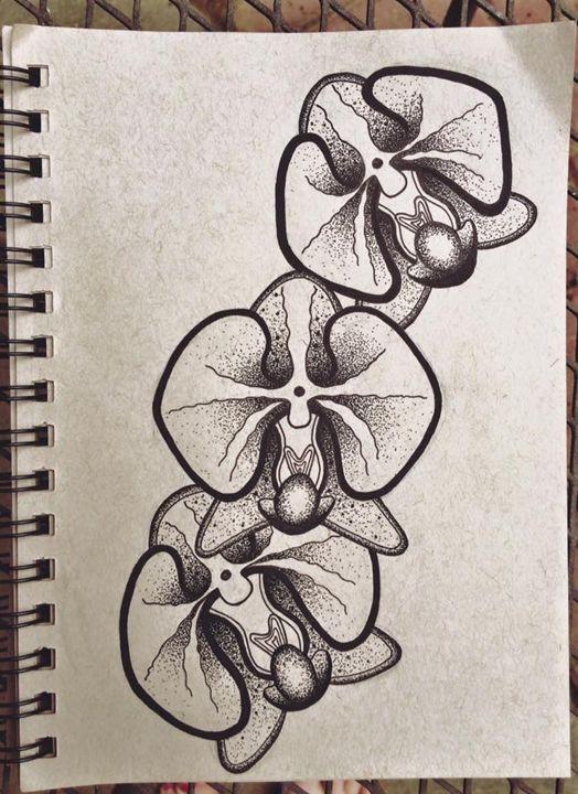 Three Orchids - Magnolia Blossoms