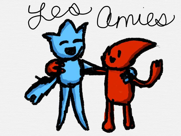 Les amies/the friends - Ping's Art