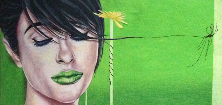 In Green - Drawings by Teneill Rose
