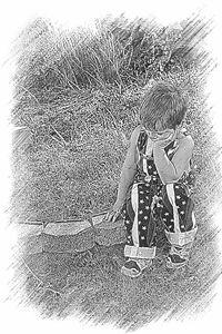 Summer Ponderings in black and white