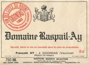 Wine Label Poster Dom Raspail-Ay