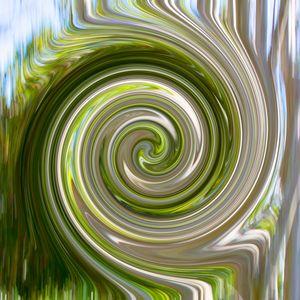 Green Twirl - Welborne Fine Art