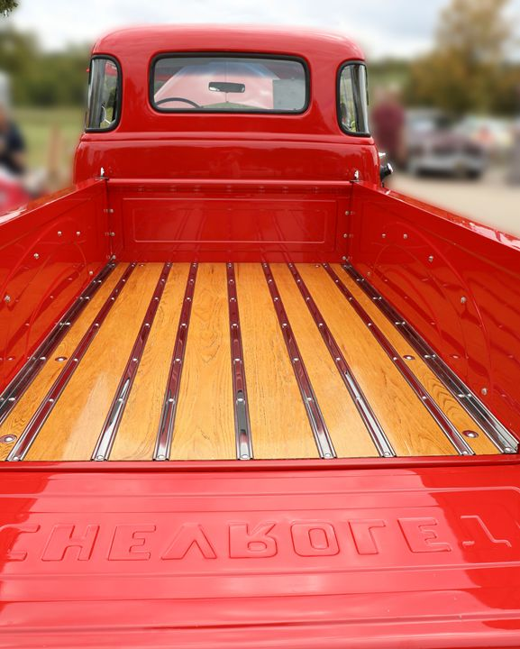 Red Chevy Truck Bed - Aspen Willow Fine Art Photography Gallery