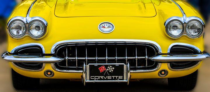 Sunshine Yellow Corvette - Aspen Willow Fine Art Photography Gallery