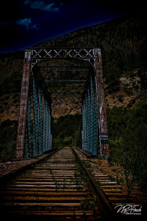 Old Railroad Bridge at Night - Aspen Willow Fine Art Photography Gallery