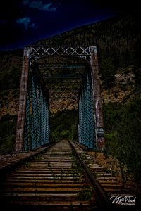 Old Railroad Bridge at Night