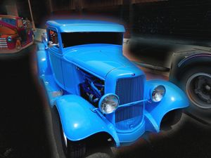 Antique Blue Ford - Aspen Willow Fine Art Photography Gallery