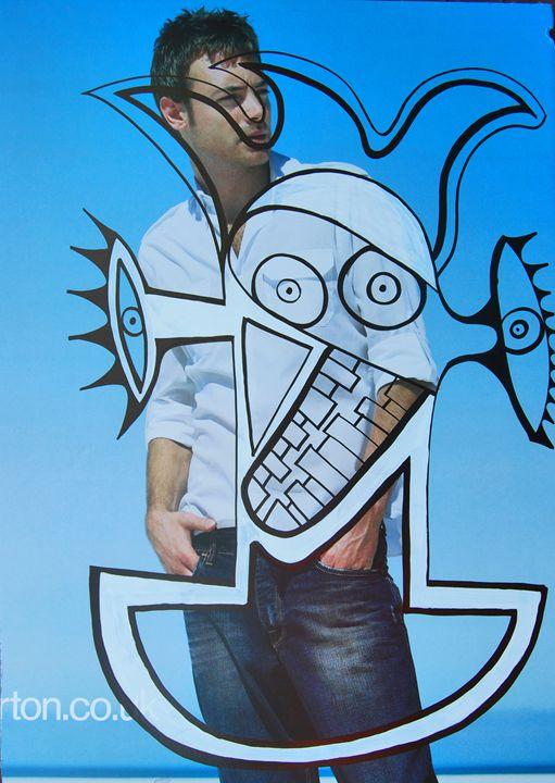 man poster - https://www.artpal.com/monkeey/