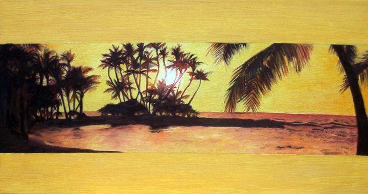 Yellow Hawaiian Sunset - Lenka Graner's Paintings