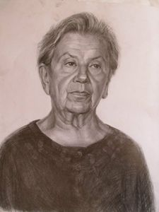 A study of and old woman