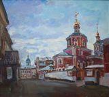 Moscow church, 50x45, 2009