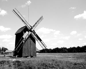 Netherlands Old Country Windmill