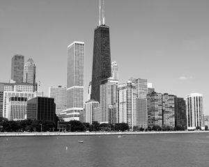 Chicago skyline Hancock Center - KCBlack&White