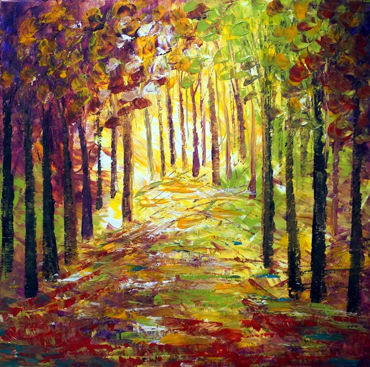 SUNSET FOREST - Art by Luiza Vizoli