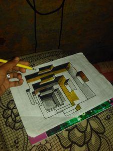 3d hole handmade art..