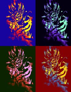 Goku Pop Art
