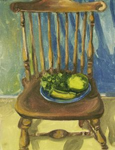 Fruit Chair Oil Painting