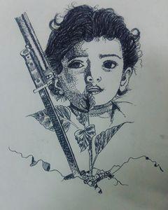 Black pen work