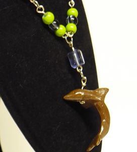 Dolphin Pendant Spring-Colour Chain
