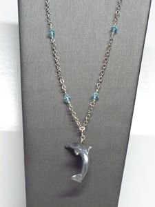 Hand-sculpted Dolphin Pendant