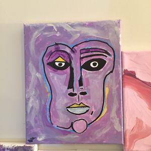 Purple Faced Woman