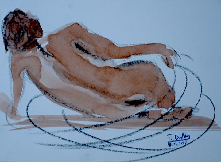 Nu à la spirale - Jerôme Dufay