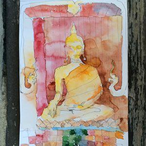 Buddha in Wat Chedi