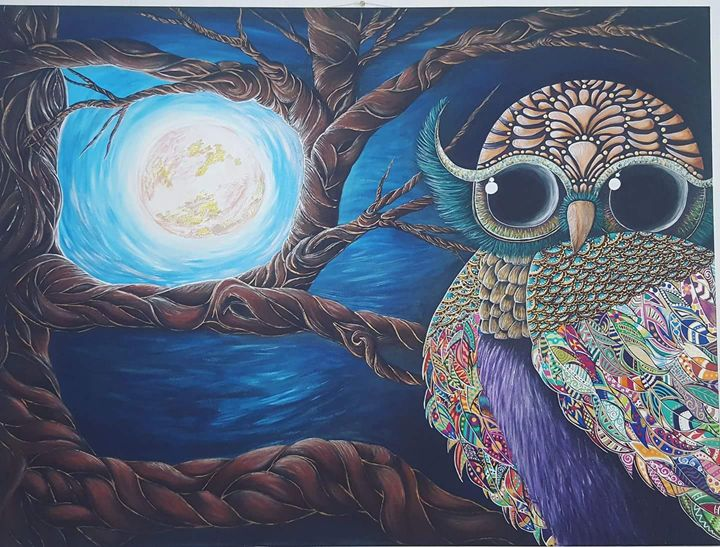 By the light of the moon - Daphne'sPaintStudio
