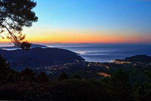 dawn in Elba island