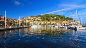 promenade and marina in Porto Azzurr