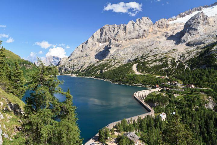 Dolomiti - Fedaia pass with lake - Antonio-S