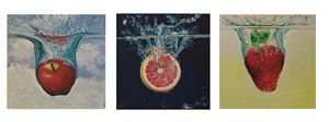 Plunging Fruit Water Triptych