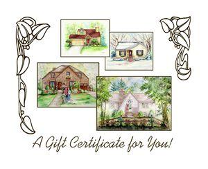 "8""x10""House Portrait Gift Card"
