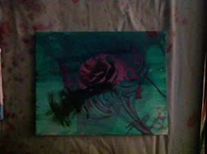 Abstract, expressionism, A rose