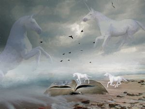 From The Book Of Unicorns - Painting