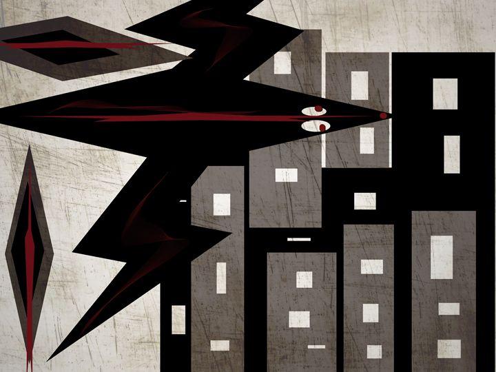 Blackbird  over the city - sol