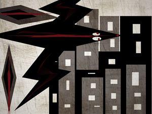 Blackbird  over the city