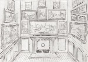 Sketch of The Picture Gallery -Soane - Arter