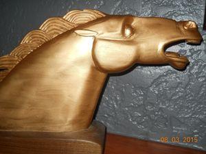 art deco horse