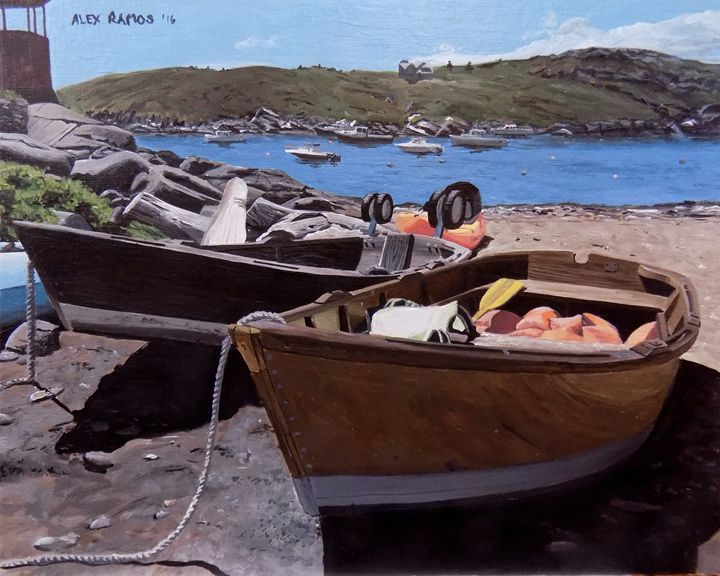Boats Ashore on Monhegan Island - Alex Ramos