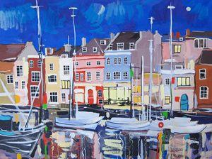 Weymouth's quayside. United Kingdom