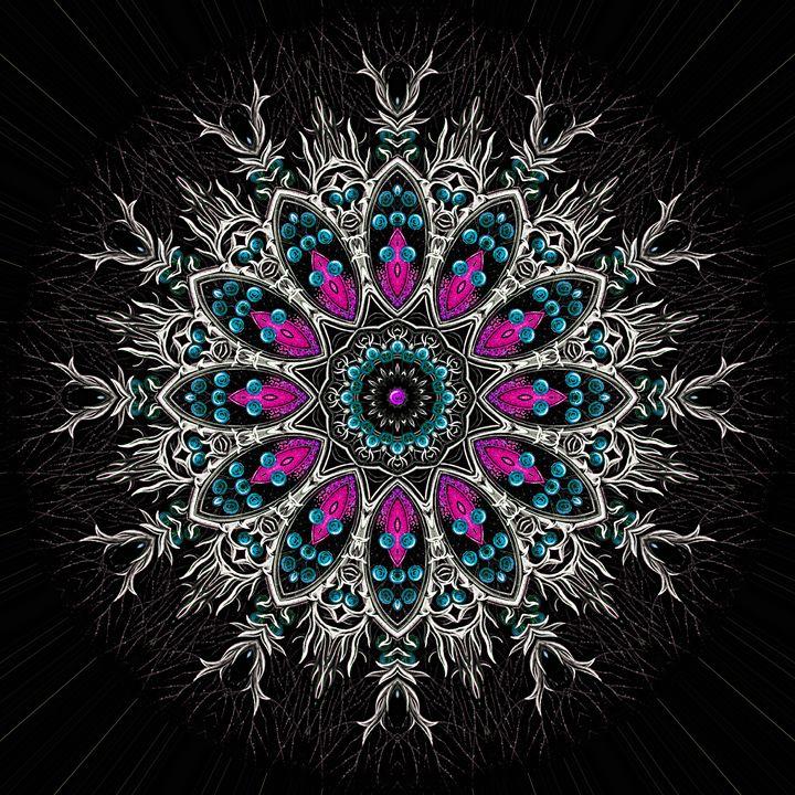 Sacred Flower - Throw Pillow - Marcus Mattern