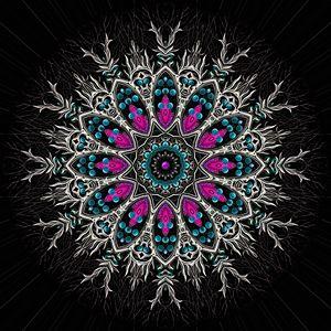 Sacred Flower - Throw Pillow