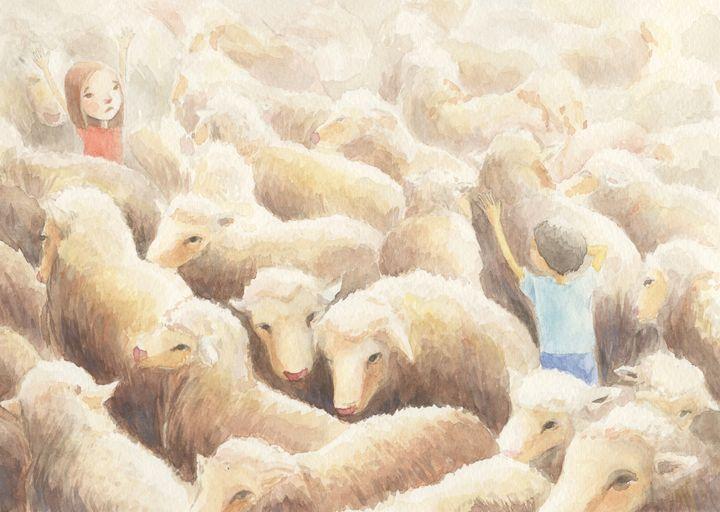 between sheep - NopoArt