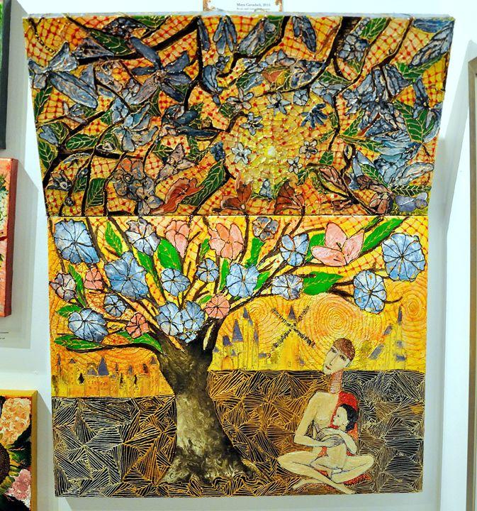 Meditation of Isaac Newton's wife - Maya Gavasheli