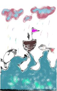 Ruff at sea