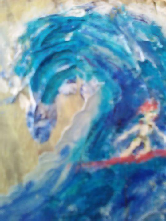 Surfergirl - John Blandly Art